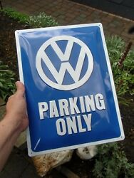 German Volkswagen - Vw Parking Only - Official Large Metal Wall Sign