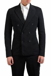 Dolce And Gabbana Men's Silk Wool Double Breasted Blazer Sport Coat Size 38 40 42