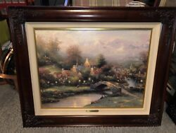 Lamplight Village (Lamplight Lane IV) Thomas Kinkade Canvas 474/495 A/P ($2355)