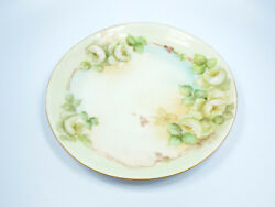 Antique Hutschenreuther Selb Bavaria Hand Painted Floral Roses Plate, 8 3/8