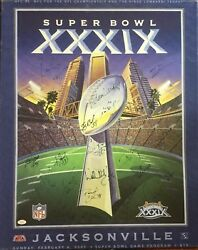 Patriots Vs Eagles Super Bowl Autographed Tom Brady And Other Patriot Stars