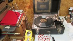 Antique Cecilian Melophonic Wind Up Record Player
