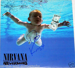 Nirvana Hand Signed Autographed Nevermind Album By 2 Rare With Proof + C.o.a.