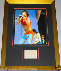The Rolling Stones Mick Jagger Hand Signed Autographed Custom Framed Ticket Coa