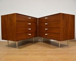 George Nelson for Herman Miller Mid Century Thin Edge Chests- A Pair