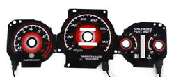 Type R Red Glow 97-01 Honda Crv Cr-v Jdm Auto At Gauge Face Overlay New