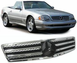 Black chrome finish front grill radiator grill for Mercedes SL R129