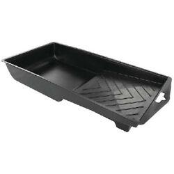 4 Inch Black Plastic Paint Tray With Hanging Hole - Good For Bottom Painting