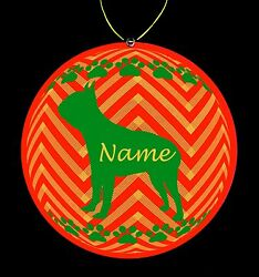Boston Terrier Breed Personalized Christmas Ornament