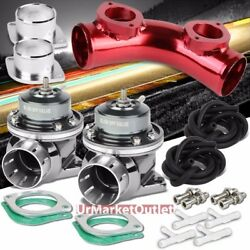 Silver Type-fv 30 Psi Blow Off Valve Bov+red 8 70 Degree/dual Port Flange Pipe