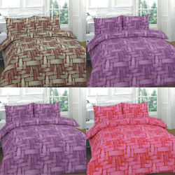 Duvet Cover Set With Pillow Cases King Size Double Super Single Printed Jayce