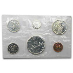 1959-1966 Canada 6-coin Silver Prooflike Set 1.11 Asw - Sku 8563