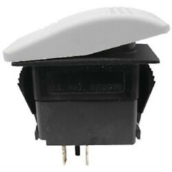 White Spst 2 Position On / Off Contura Rocker Switch For Boats