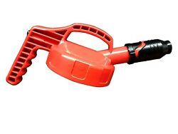Oil Safe Stumpy Spout Lid W/ 1 In Outlet - Red 310-5713