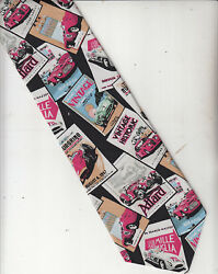 Rm Style-ralph Marlin-[car Theme]-100 Silk Tie-made In Usa-rs1- Menand039s Tie