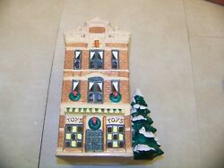 Dept 56 Vintage Snow Village Toy Shop 50733 With Styrofoam Shell And Print Sleeve