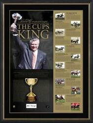 Bart Cummings Signed Framed Limited Edition 'the Cups King' Melbourne Cup Print