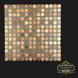 Tile Sheets Of Us Copper Pennies - Penny Tiles 12x12 - Free Shipping