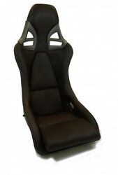 REAL CARBON SPORT SEAT for PORSCHE 997 GT2 look brown leather COCOA white seams