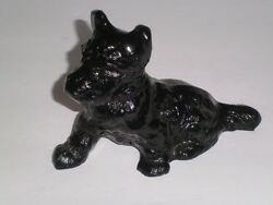 Vtg glass L E Smith scottie Scottish terrier dog black PAPERWEIGHTFIGURINE