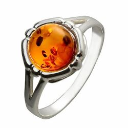 Sterling Silver and Baltic Honey Amber Ring quot;Claraquot; $30.65