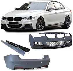 Front rear bumper side skirts complete bodykit for BMW 3 Series F30 from 2011