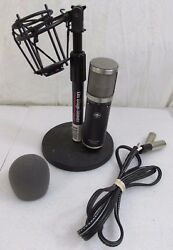 Sterling Audio ST55 Condenser Cable Professional Microphone With Desk Stand