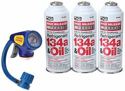 EZ Chill AC Recharge and Retrofit Kit Incl. 3 - 12 oz. Cans R134a and Oil New