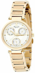New Kenneth Cole Ny Kc4680 Gold Tone Stainless Steel Women's Watch Great Gift