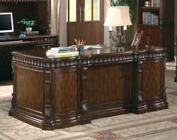 Coaster 800800 Union Hill Double Pedestal Executive Desk In Rich Brown