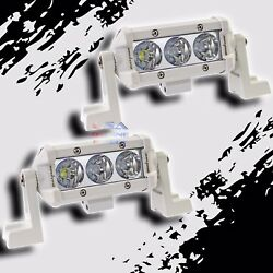 2pcs Slim 4 Cree Led Light Bar Marine Wakeboard Boat Tower Spot 4x4 Off-road