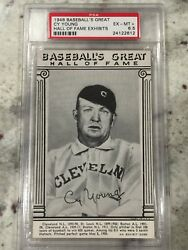 1948 Baseball's Great Hall of Fame Exhibits Cy Young PSA 6.5 only 3 Higher Rare!