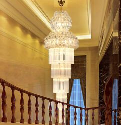 Luxury K9 crystal light hotel lobby chandeliers villa stairs ceiling Lights #002