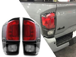 New Black Trd Pro Rear Tail Light Lamp Pair For 2016-19 Toyota Tacoma All Models