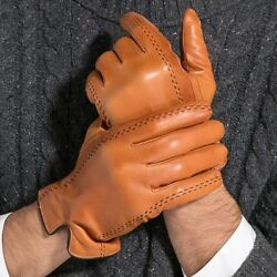 Gours Winter Men's Genuine Leather Gloves 2017 New Brand Touch Screen Gloves
