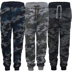 Kids Camo Print Tracksuit Trousers Girls Boys Jogging Bottoms Sweatpants 3 14 Y GBP 9.98