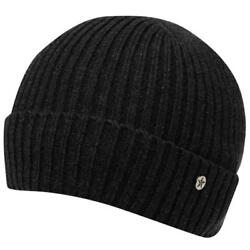 Mens Charcoal No Fear Dock Fishermans Hat Knit Knitted Beanie Beenie
