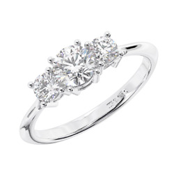 1.00 Carat Round Brilliant Cut Diamond Engagement Ring Available In 18k Gold