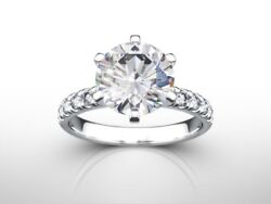 1.50 Ct Round D/si2 Diamond Natural Engagement Ring White Gold Xmas