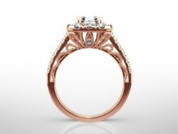 2.5 Carat Cushion E/si2 Diamond Solitaire Engagement Ring Gift 14k Rose Gold