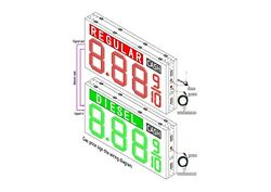 LED Gas Price  Sign  72