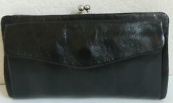 HOBO The Original Cameran Wallet Clutch Black Leather Phone Holder NWT