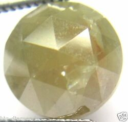 6.45cts Natural Real Big Gray Color Round Rose Cut Diamond 10.70-10.92x5.95 Mm