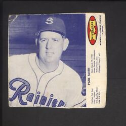 1963 Milwaukee Sausage Wieners Meats Hot Dogs Paul Smith Seattle Rainers Pcl