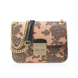 NWT $428 Michael Kors Sloan Lace Oyster Small Chain Women Shoulder Crossbody Bag