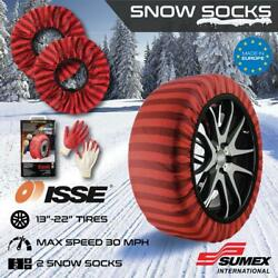❄️ Isse Classic Snow Textile Tire Chains Socks Traction For Cars Suvs Trucks ❄️
