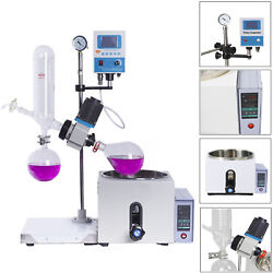 1L 0-120rpm 0-99℃ New Lab Rotary Evaporator wMotor Lift Digital Heating Bath