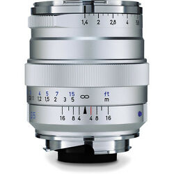 Carl Zeiss 35mm F1.4 Distagon T Zm Lens Silver M Mount Manual Focus Japan Made