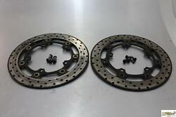 03-09 Yamaha Yzf R6 R6s Front Left Right Brake Rotors Discs Bolts Yzr6s 04 06 7