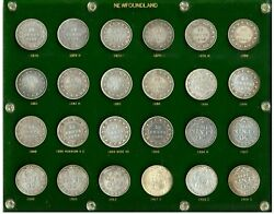 Newfoundland Complete Set Of 50 Cents Total Of 24 Coins